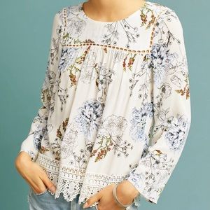 Anthropologie Maeve Southern Belle Swing Top XL